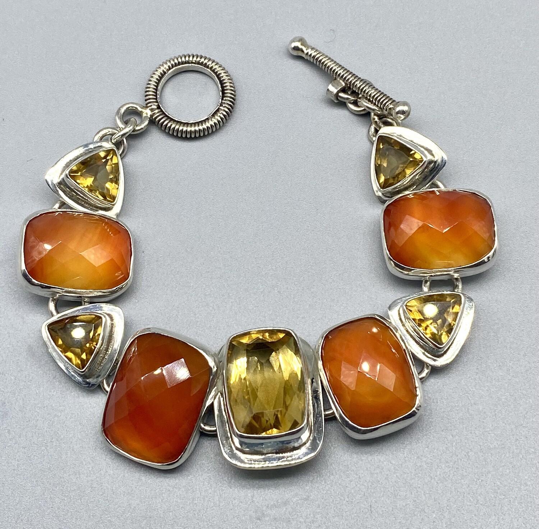 Carnelian & Citrine Bracelet