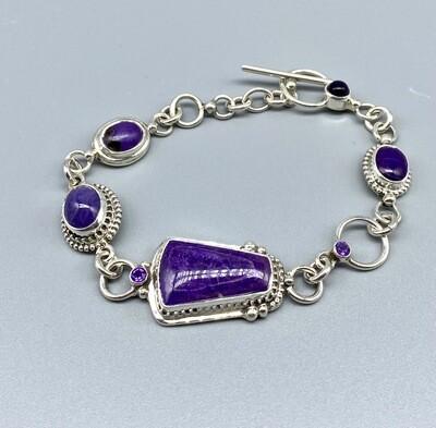 Sugalite & Amethyst Bracelet