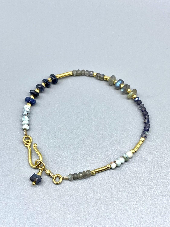 Larimar/Labradorite Bracelet