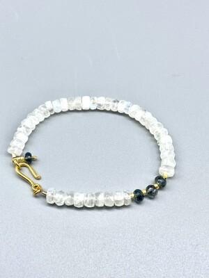 Moonstone w/Aquamarine Bracelet