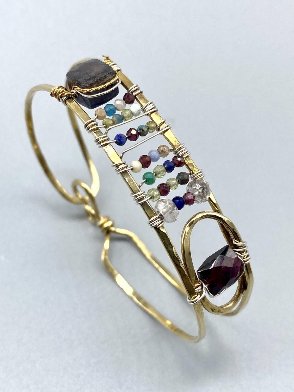 Handmade Gemstone Cuff -