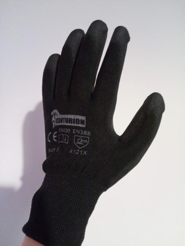 Black Gardening Gloves 1x Large Pair