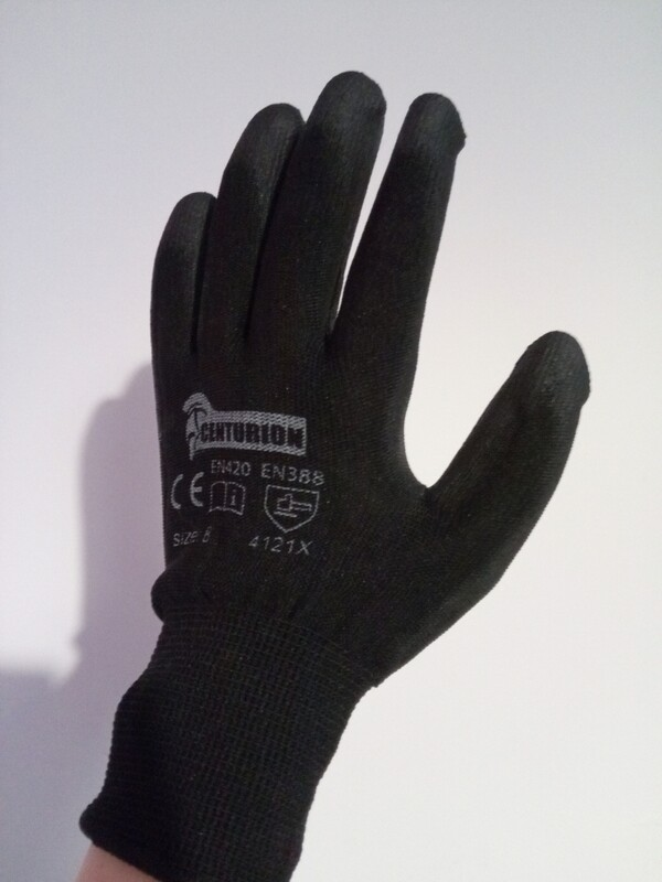 Black Gardening Gloves 1x Medium Pair