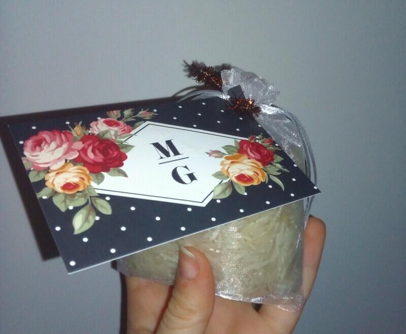 Handmade Scented Rice Sachet - Geranium