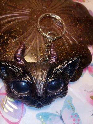 The Evil Cute Kitty - Black & Glitter with a metallic powder detail