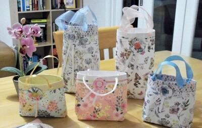 Cute Peach Colour Jewelry Gift bag - Handmade by Georgie Good in Harrogate