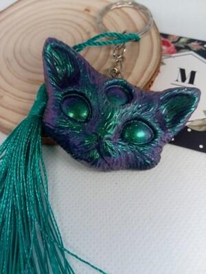 Third Eye Kitty Keyring Aurora Pigment