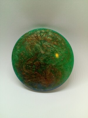 Le Circle - Cold Beverage Coaster Mixed Mica powder & Glitter