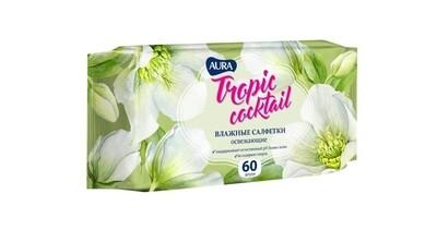 АУРА Tropic Cocktail Осв. влаж. салфетки 60шт