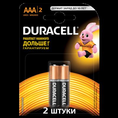 DURACELL Батарейки Basic AАA   2шт