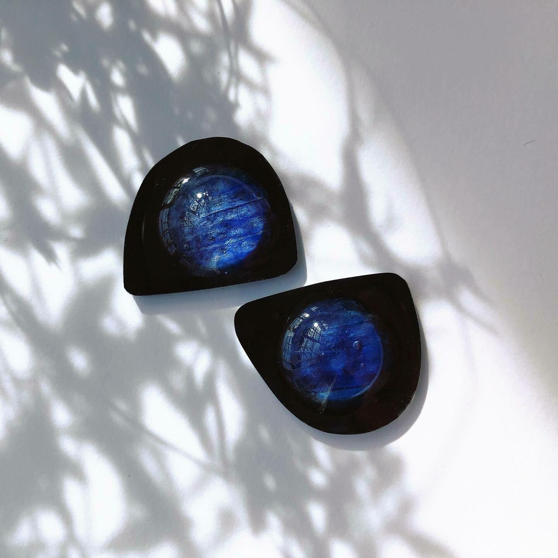 Blue Petal Earrings