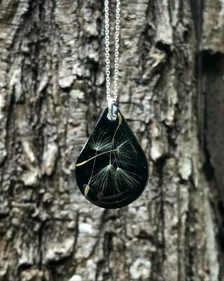 Small Dandelion Drop Necklace