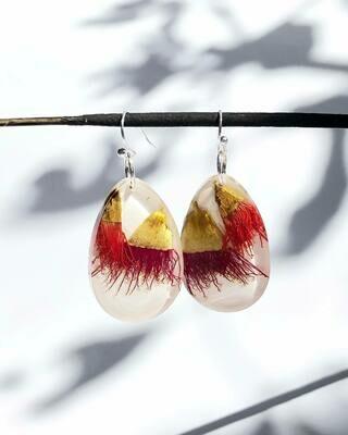 Small Eucalyptus Blossom Earrings