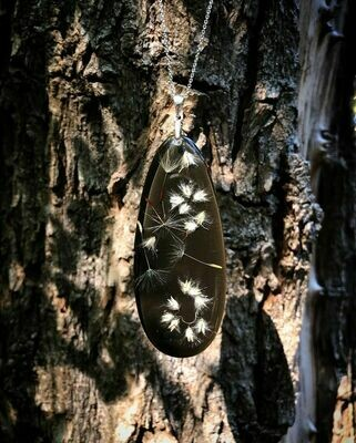 Elongated Drop Fynbos Seed Necklace