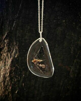 Moth Pebble Necklace