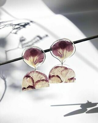 Pansy and Carnation Dangles