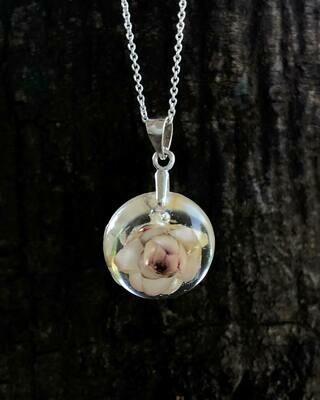 Tiny Strawflower Necklace