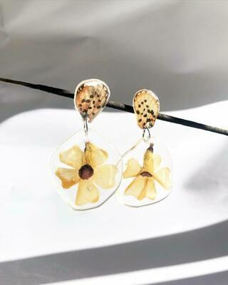 Butterfly & Black-eyed-susan Earrings