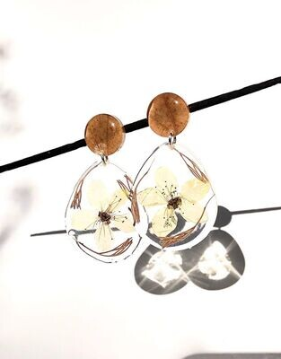 Autumn Leaf, Plum Blossom & Fynbos Dangling Earrings