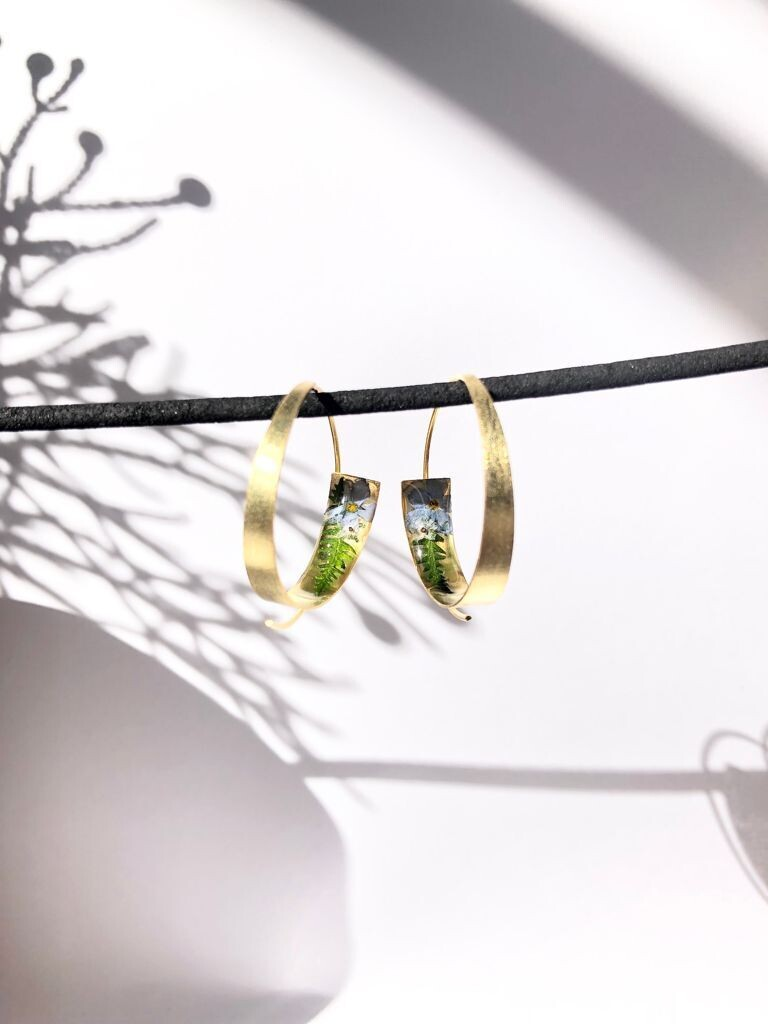 Forget-me-not Gold Hoops