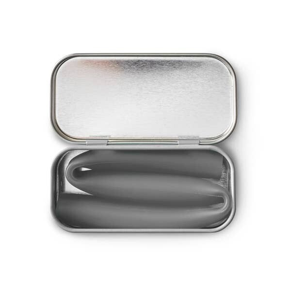 GoSili Extra Wide Straw in Tin - Charcoal