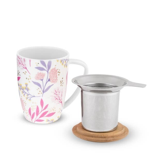 Bailey Botanical Bliss Ceramic Tea Mug & Infuser by Pinky Up