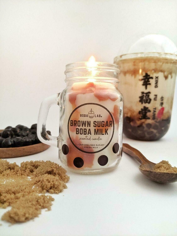 Brown Sugar Milk Tea Boba Lab Candle
