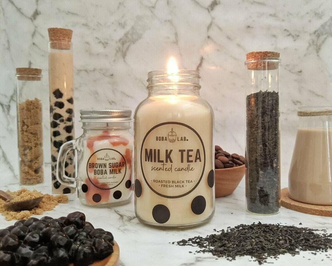 Milk Tea Boba Lab Candle