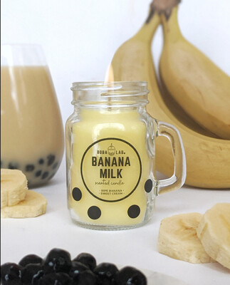 Banana Milk Boba Lab Candle
