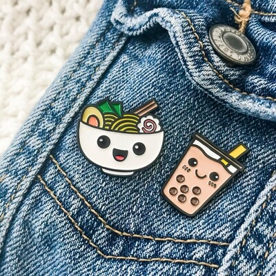 Pin Pin Pals - Ramen and Boba Pin Set