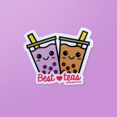 Pin Pin Pals - Boba Best-Teas Sticker