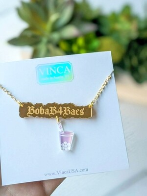 Boba B4 Baes Necklace by Vinca USA
