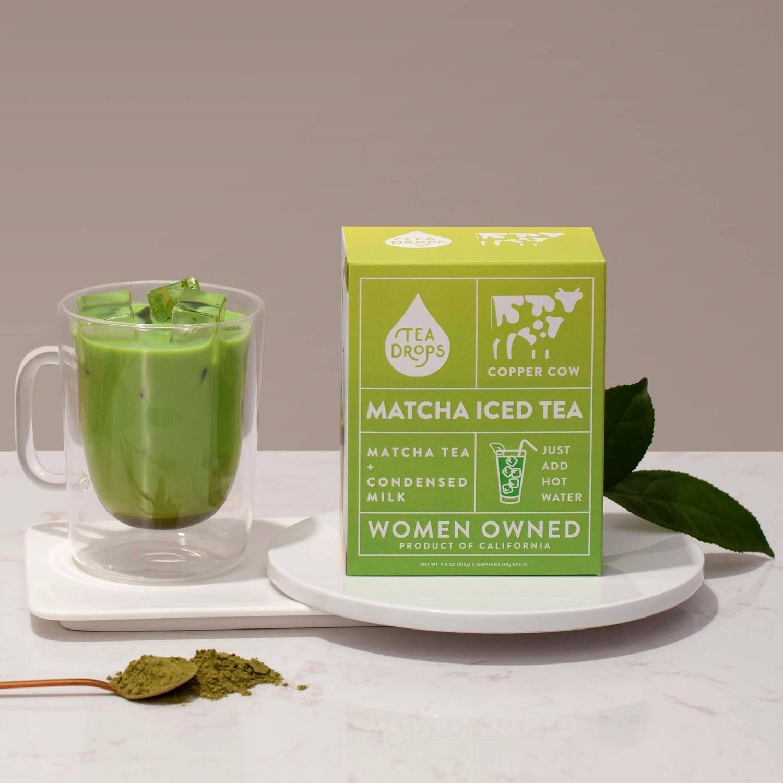 Tea Drops Matcha Iced Tea Latte Kit