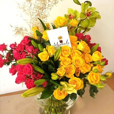 Mixed Roses from