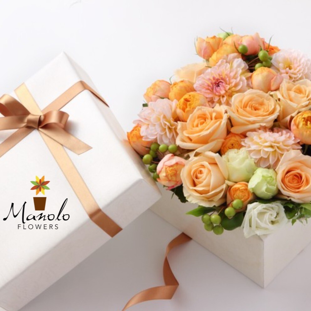 Mixed Roses in Box from