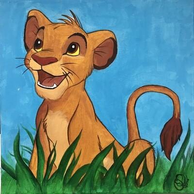 """Cuadro """"Simba"""" El Rey León - Disney"""