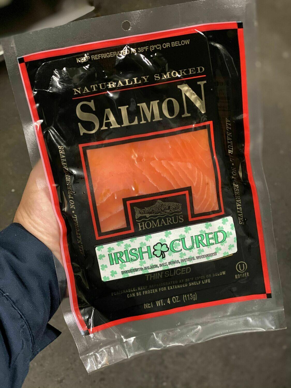 4 Oz All Natural Irish Cured Salmon (Homarus)