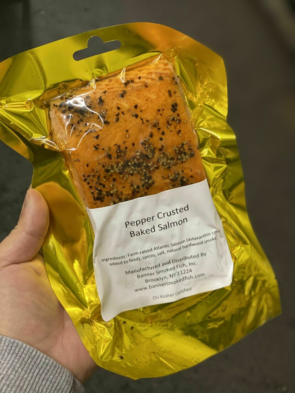 Pepper Crusted Kippered Salmon