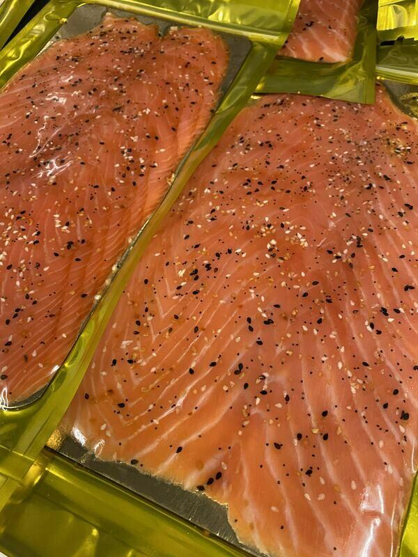 Everything Spiced Smoked Salmon