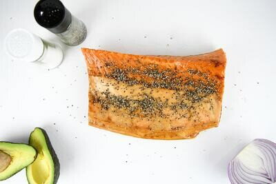 Pepper Crusted Kippered Salmon