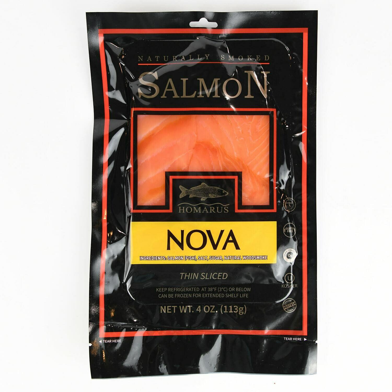 4 Oz All Natural Smoked Salmon (Homarus)