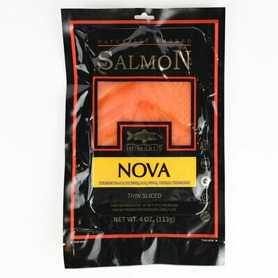 4 Oz All Natural Smoked Salmon (Homarus)