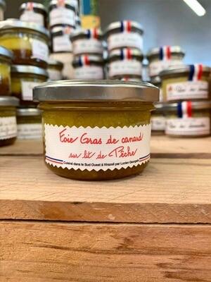 Foie gras de canard sur lit de pêches