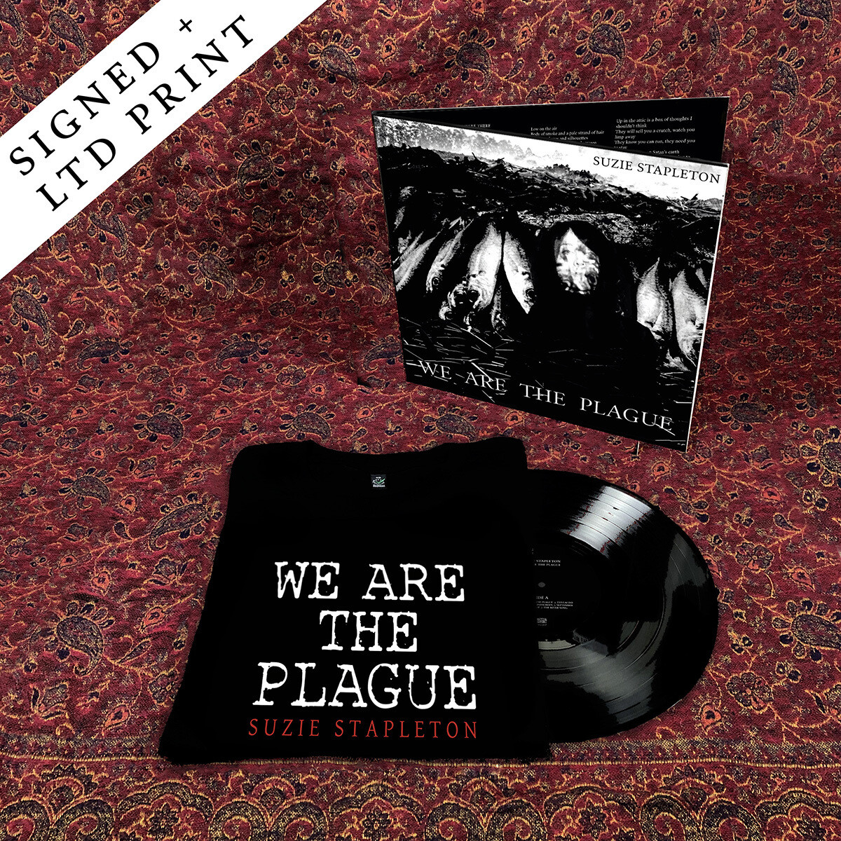 "12"" Vinyl (Signed) + Double-Sided T-Shirt"