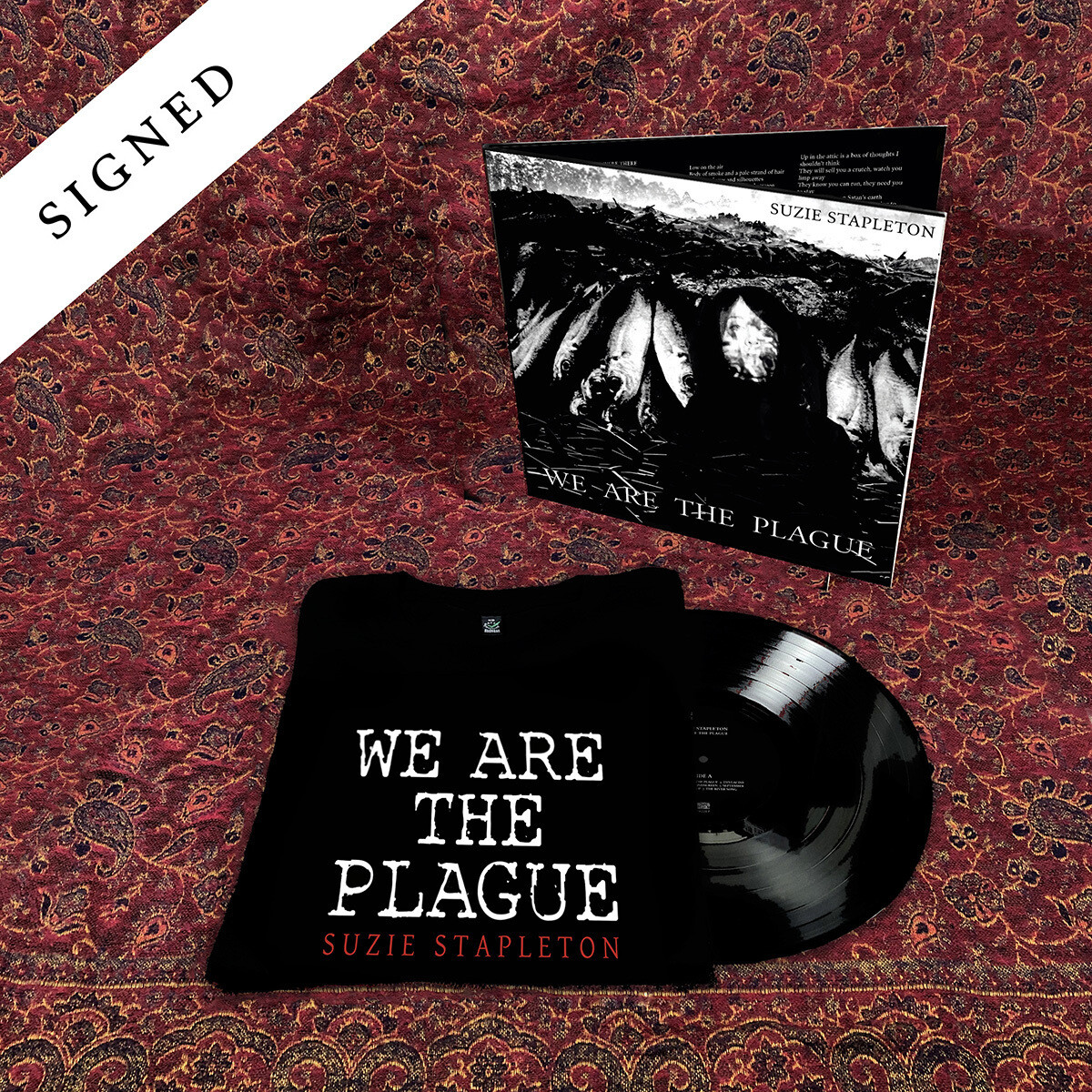 "12"" Vinyl (Signed) + T-Shirt (printed front & back)"
