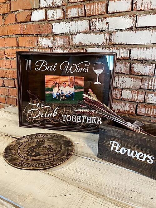 """Копилка для винных пробок с УФ-печатью """"THE Best Wines WE Drink TOGETHER"""""""