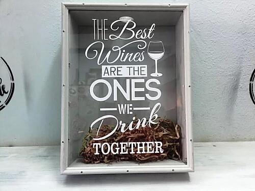 "Копилка для винных пробок ""THE Best Wines WE Drink TOGETHER"""