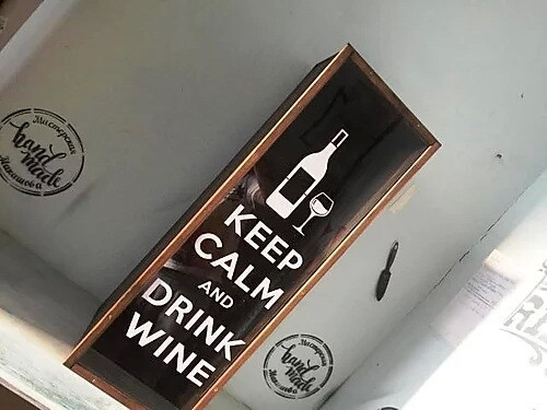 Большая копилка для винных пробок KEEP CALM AND DRINK WINE