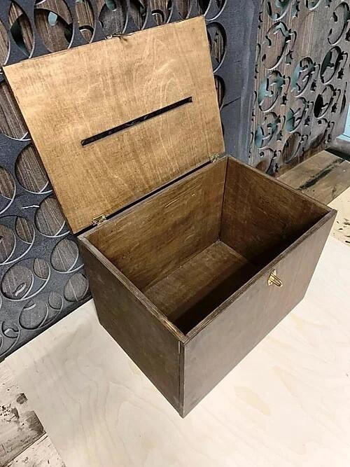 Свадебный ящик для конвертов (36х25х26 см)