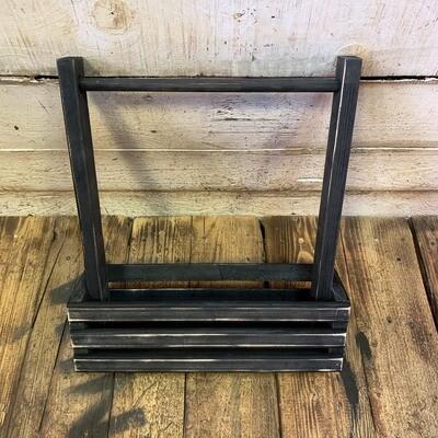 Деревянный ящик с ручкой (черный)